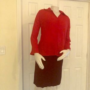 H&M MAMA Red Maternity Shirt Small